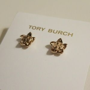 Tory Burch Rose gold cecily earrings